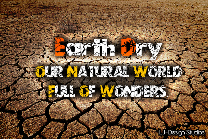 Earth Dry - LJ-Design Studios Font ground cartoon