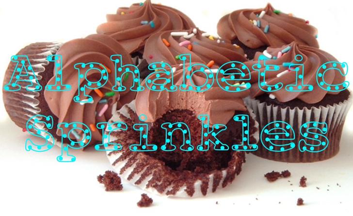 AlphabeticSprinkles Font cake birthday cake