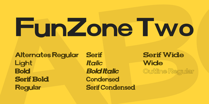 FunZone Two Font screenshot design