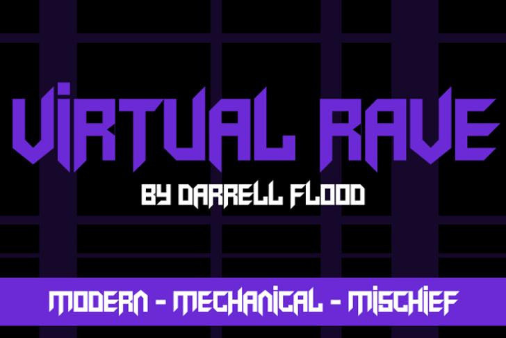 Virtual Rave Font screenshot design
