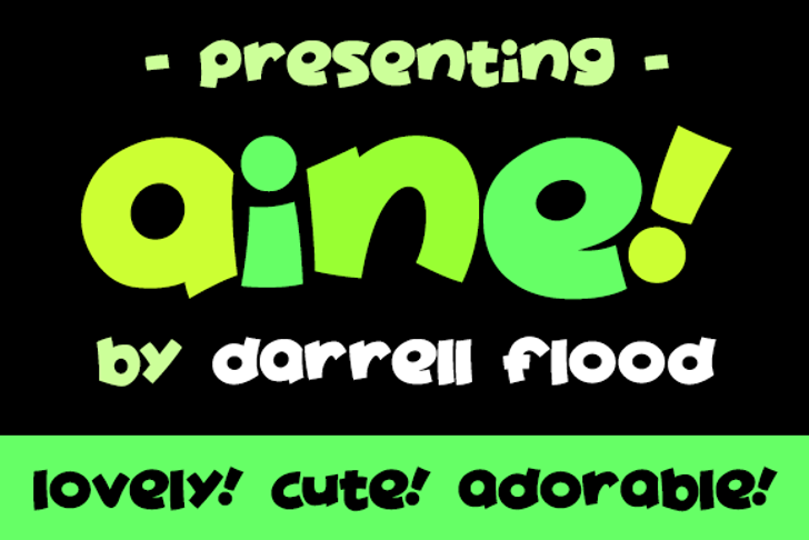 Aine Font poster cartoon