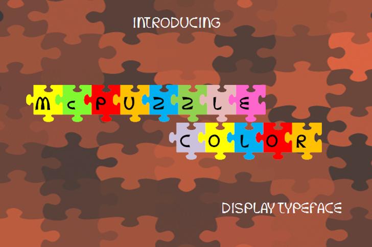 McPuzzle Color Font cartoon screenshot