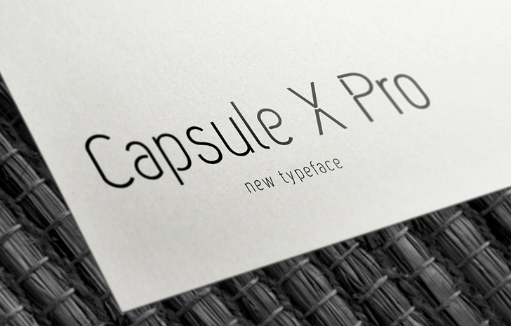Capsule X Pro Medium Font design book