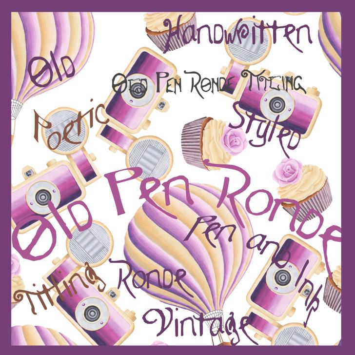 Old Pen Ronde Font poster