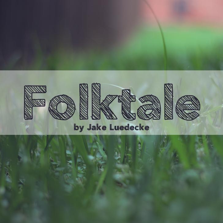 Folktale Font plant grass
