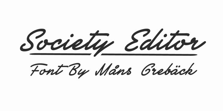 Society Editor Personal Use Font handwriting design