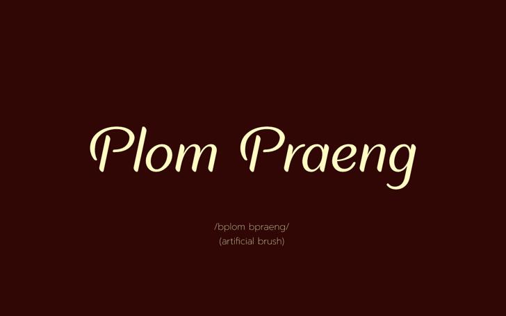 Plom Praeng Font design