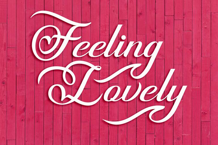Feeling Lovely Font typography handwriting