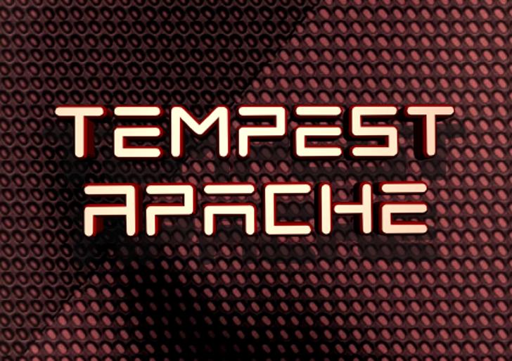 Tempest Apache Font screenshot
