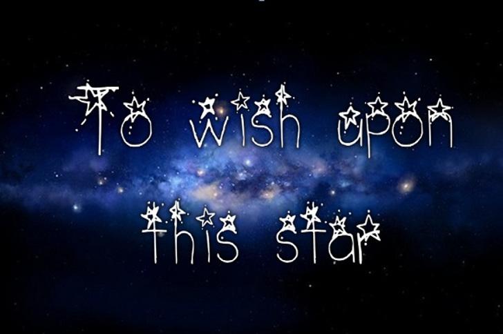 Northern Stars _ Spaced Font blackboard fireworks