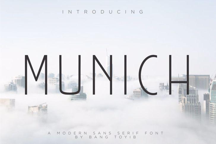 MUNICH  Font sky screenshot