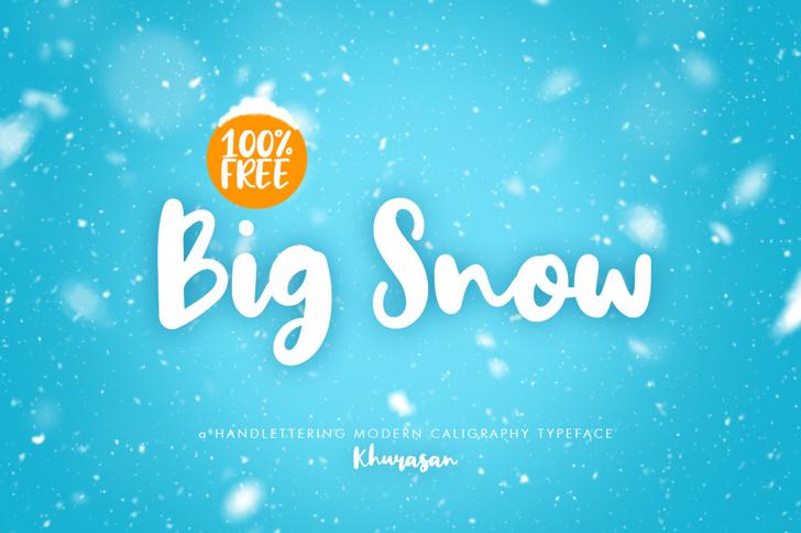 Big Snow Font design graphic