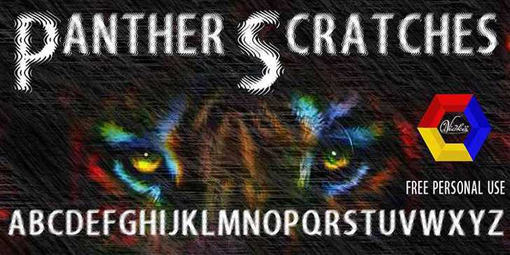 Panther Scratches Font text book