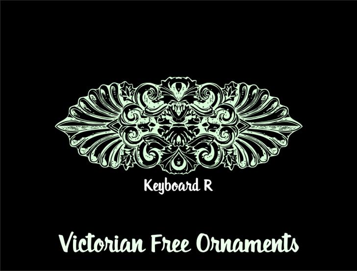 Victorian Free Ornaments Font design sketch