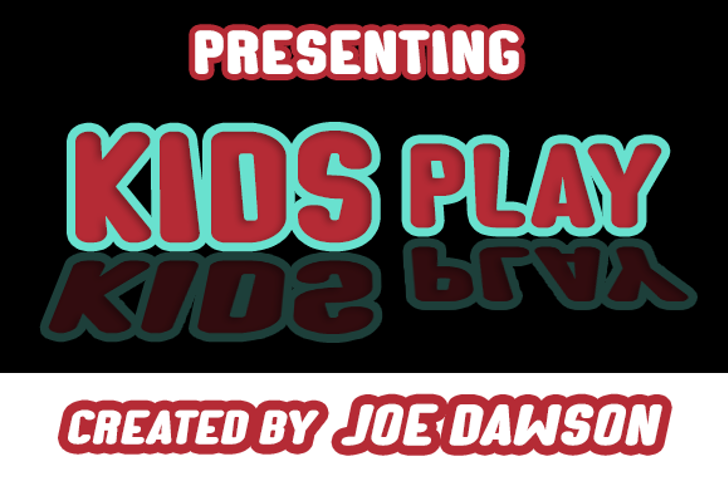 Kids Play Font poster