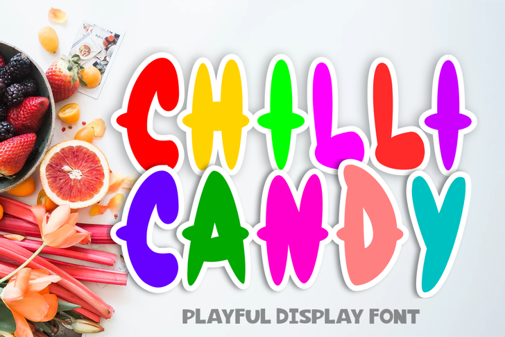 Chilli Candy Font poster