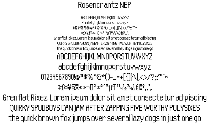 Rosencrantz NBP Font font text