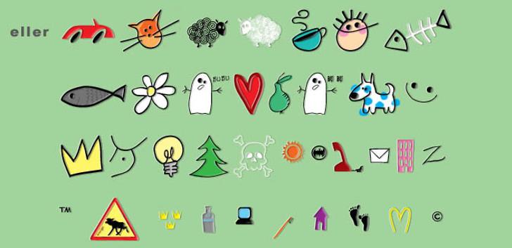 Eller Font cartoon illustration