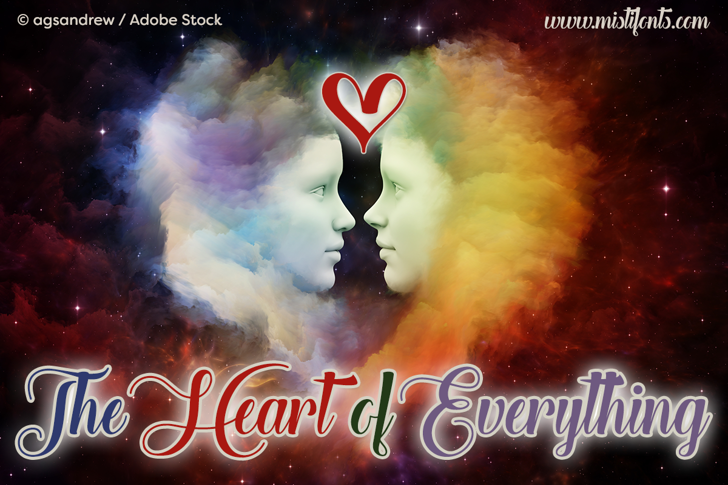 The Heart of Everything Demo Font poster screenshot