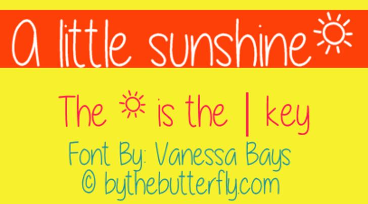 A little sunshine Font text graphic