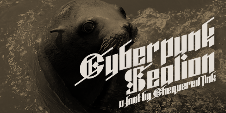 Cyberpunk Sealion Font outdoor animal