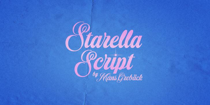 Starella Script PERSONAL USE Font handwriting typography