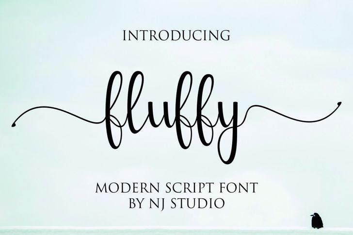 fluffy Font poster