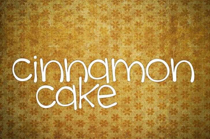 cinnamon cake Font handwriting typography