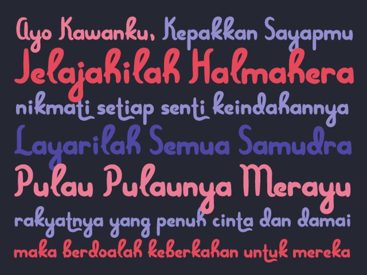 Menjelajah Halmahera Font handwriting font