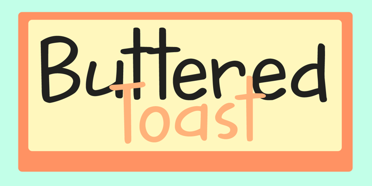 DK Buttered Toast Font abstract vector graphics