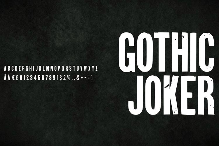 Gothic Joker Font