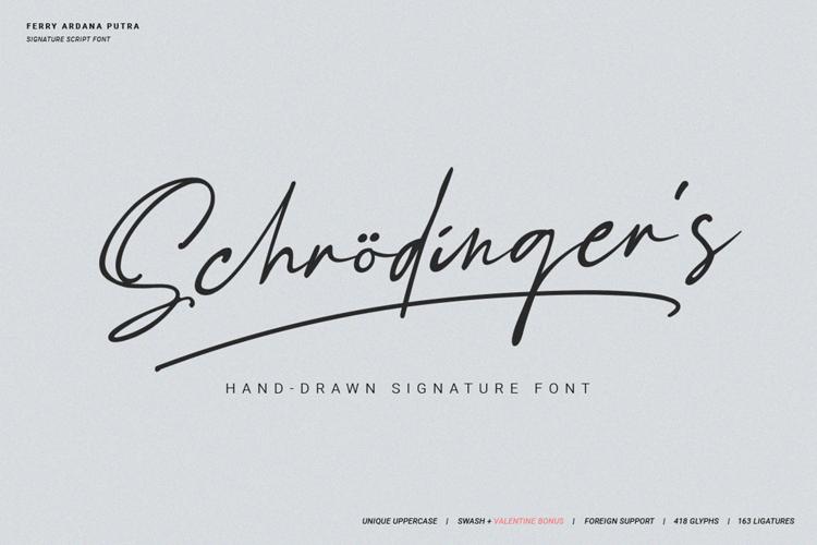 Schrödinger 's Font