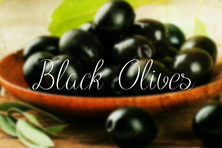 Black Olives Font