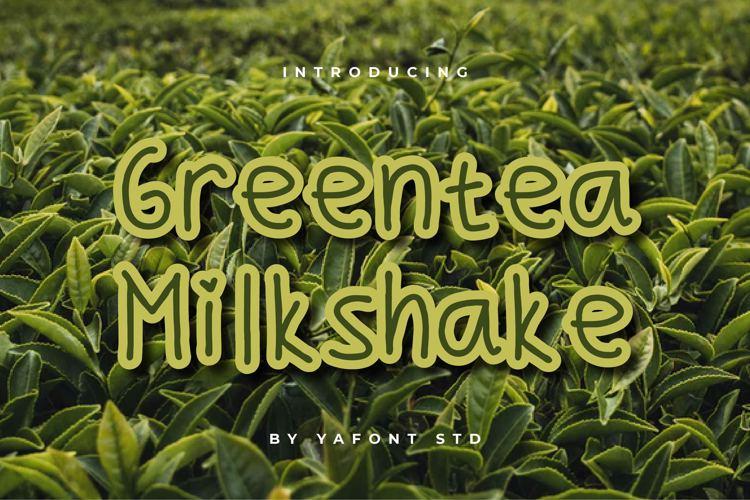 Greentea Milkshake Font