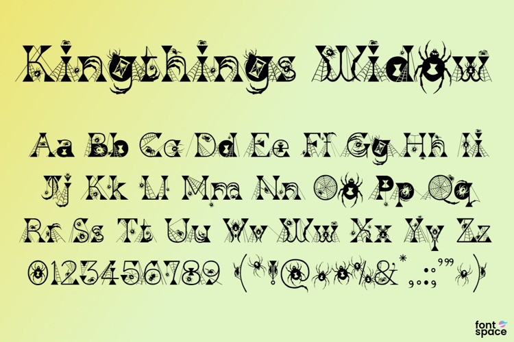 Kingthings Widow Font
