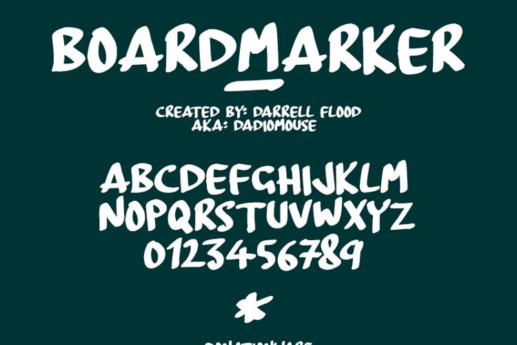 BoardMarker Font