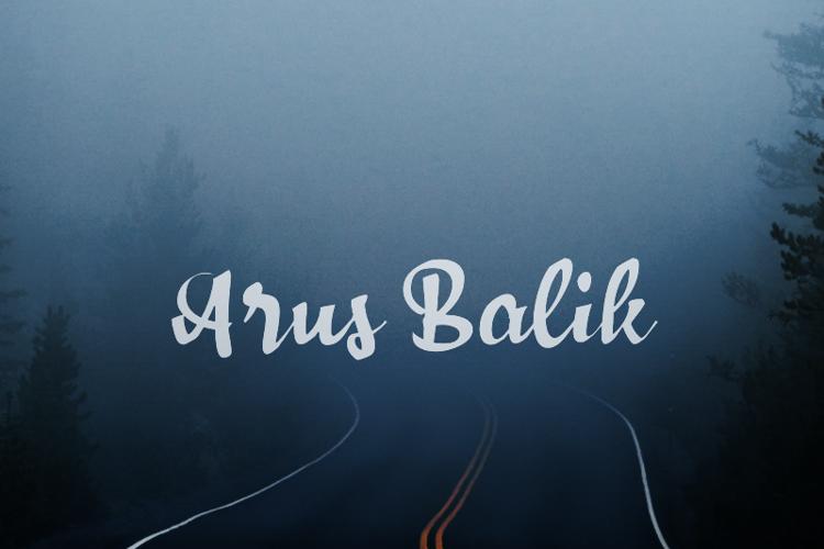 a Arus Balik Font