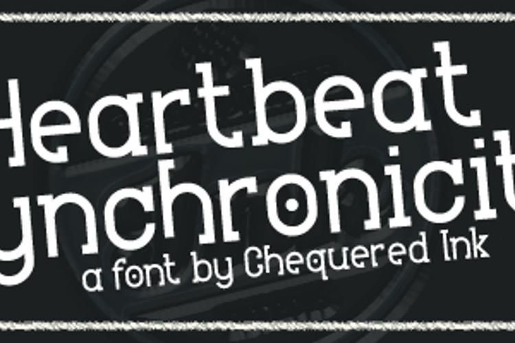 Heartbeat Synchronicity Font