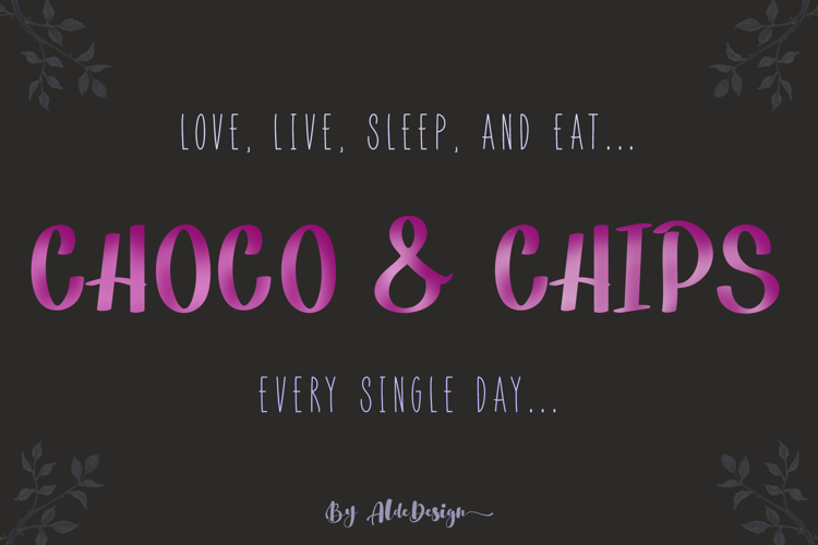 Choco & Chips Font