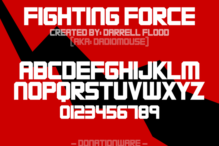 FIGHTING FORCE Font