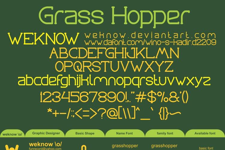 Grass Hopper Font