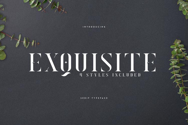 EXQUISITE - SERIF TYPEFACE Font