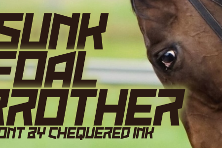 Sunk Foal Brother Font