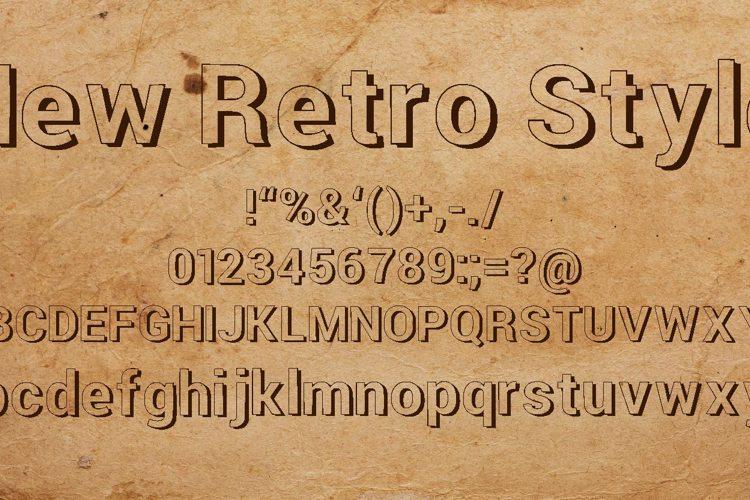 New Retro Style 3d Font