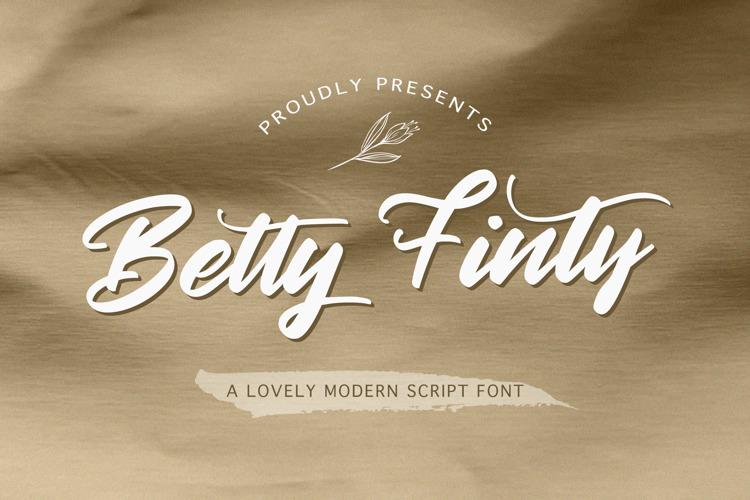 Betty Finty Font