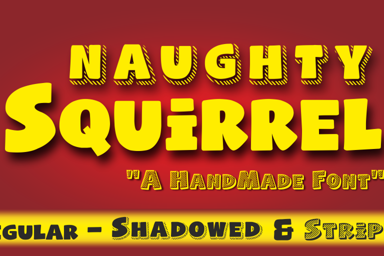 Naughty Squirrel Font