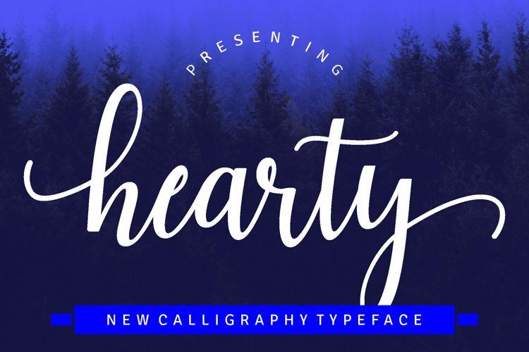 Haearty Script Font