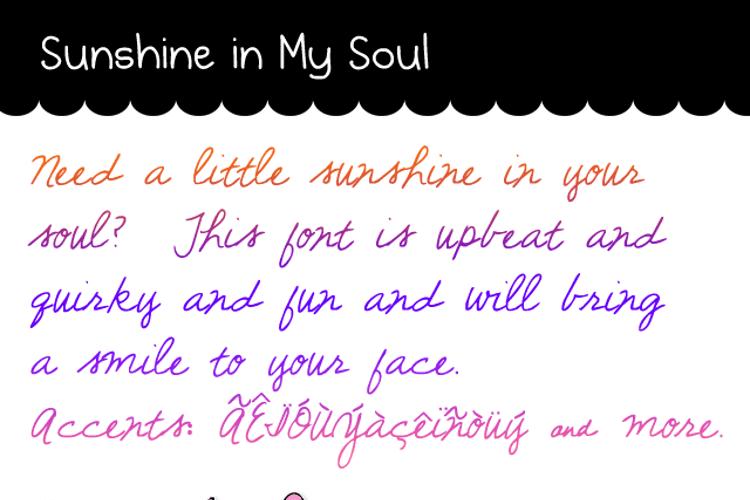 Sunshine In My Soul Font