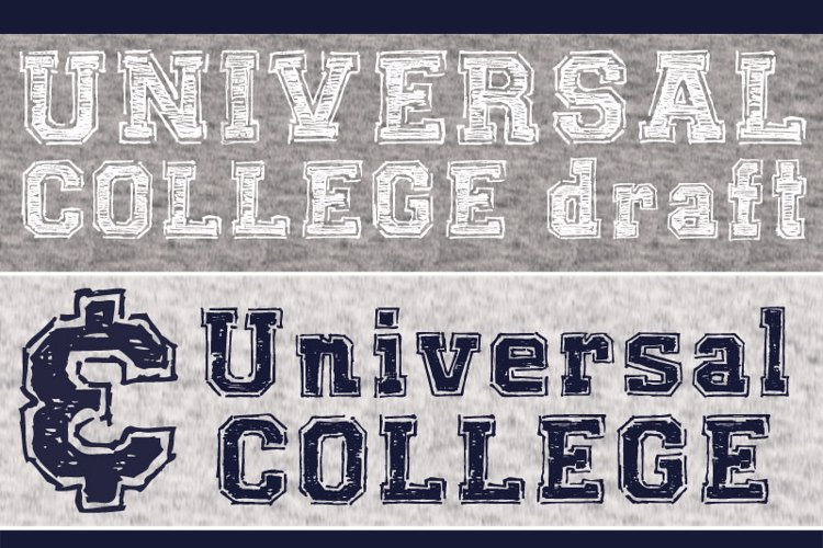 UNIVERSAL-COLLEGE-draft Font