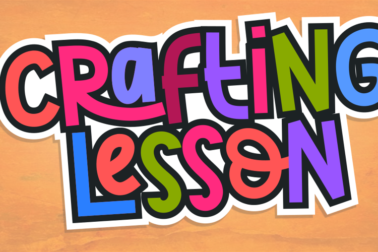 Crafting Lesson Font